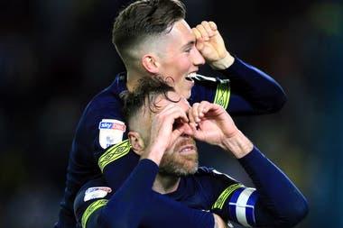 """El festejo de Derby County, un recordatorio del """"spygate"""", el caso que involucró a Bielsa contra ese equipo durante la temporada."""