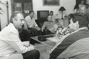 Diego recibido por el gobernador Marín en Santa Rosa
