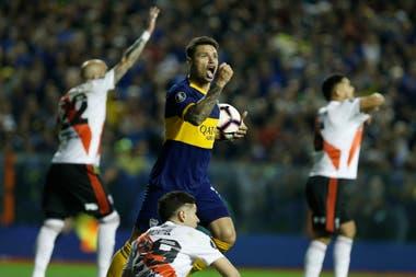 Boca celebra el gol: no le alcanzó.