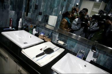 El baño de Evo Morales en la Casa Grande del Pueblo
