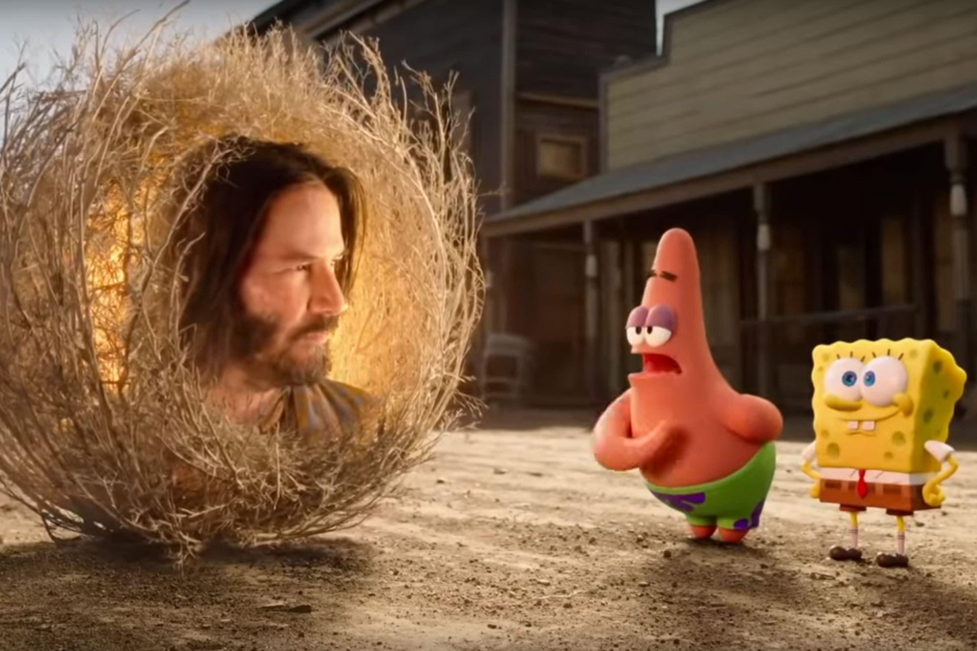 Keanu Reeves ayuda a Bob Esponja en una misión que parece ...