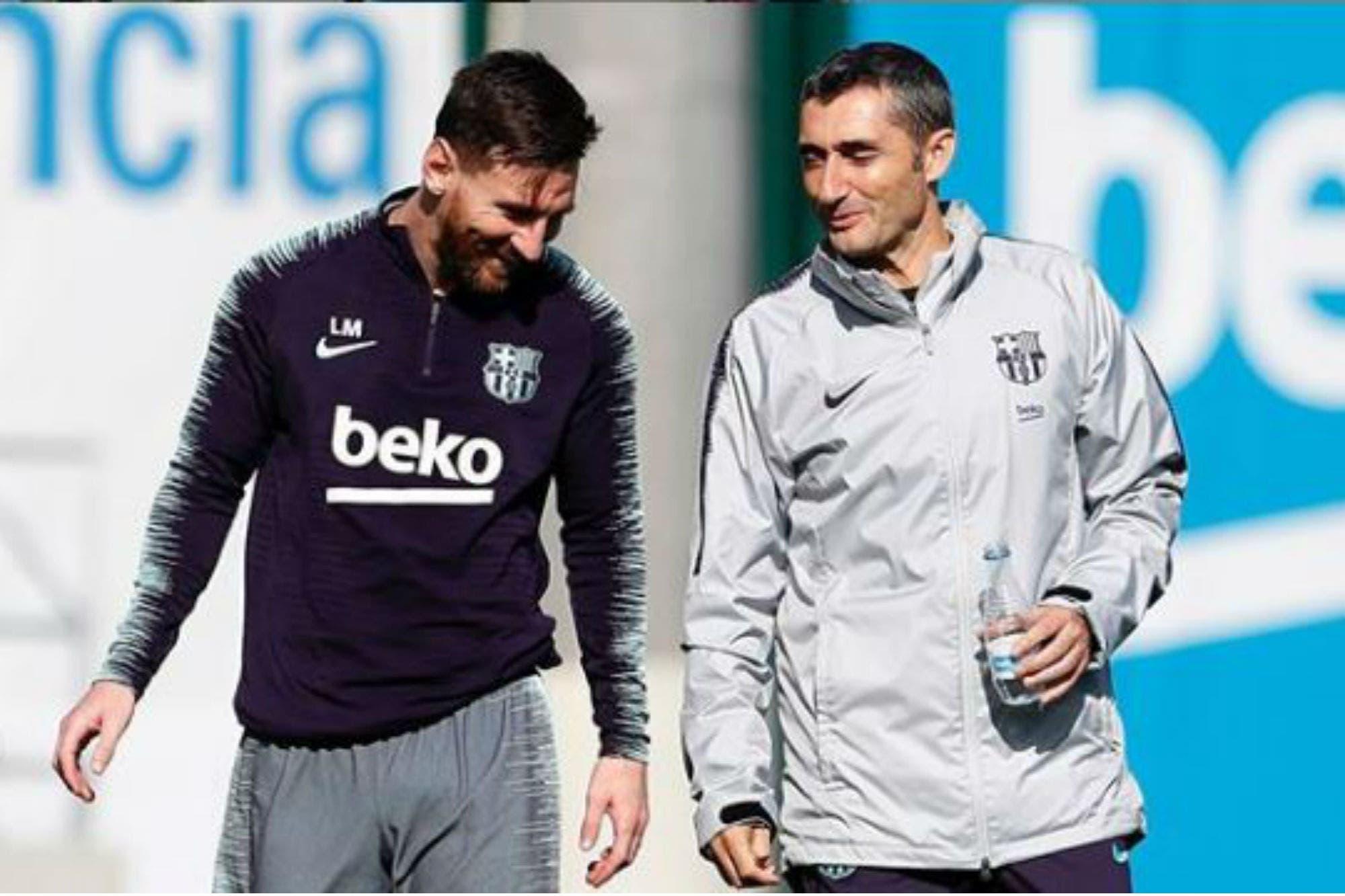 Redes: el mensaje de Lionel Messi para Ernesto Valverde tras la salida del DT de Barcelona