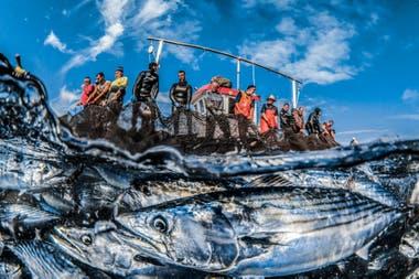 """Mención de honor: """"Los dos mundos de la pesca"""" tomada en Ceuta, España por Rafael Fernández Caballero"""