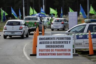 Controles en el ingreso a Pinamar