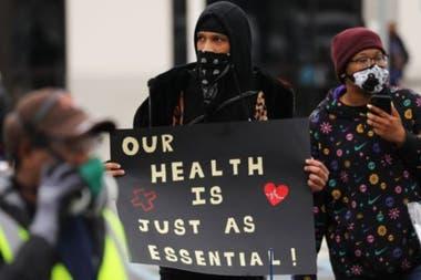 A principios de mes, algunos trabajadores protestaron frente a los almacenes de Amazon en Staten Island (Nueva York).