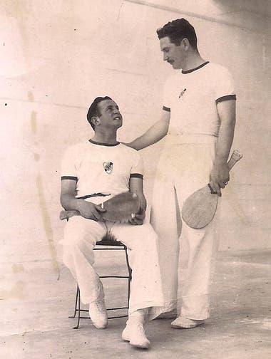 """Sehter con Antonio Carosella, cuando actuaban para River. """"El canchero de River era Bernabé Ferreyra -remomora Sehter-, una persona excepcional""""."""