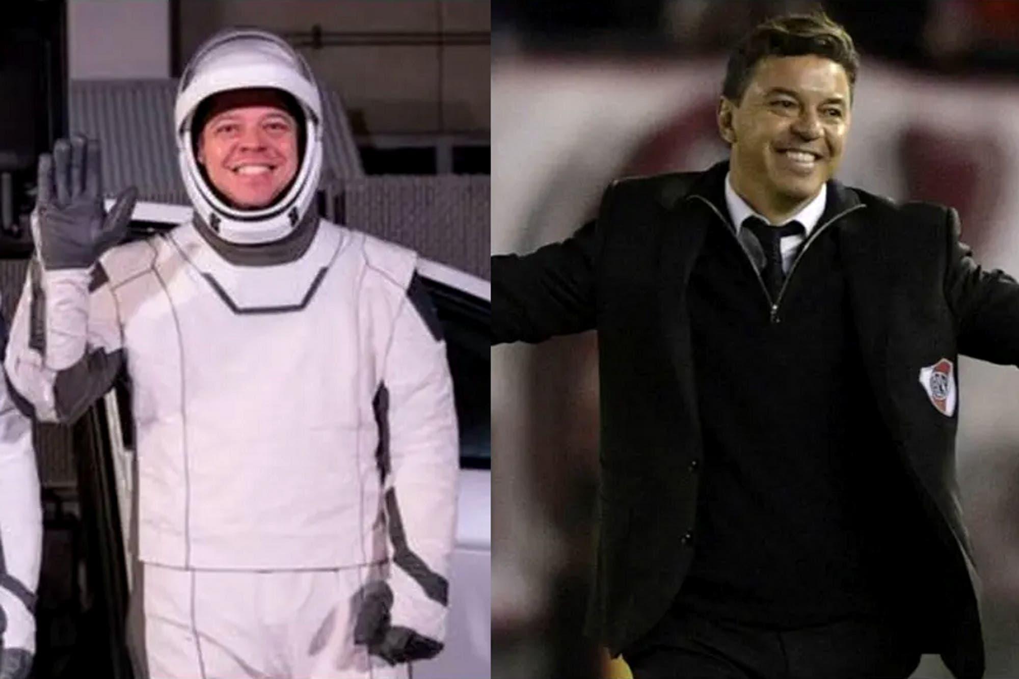 Un clon: los memes del parecido de Marcelo Gallardo con el astronauta de la misión de la NASA
