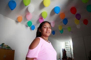 Marcela Churqui es delegada de la manzana 22 de la villa 31