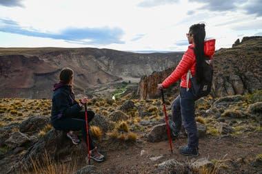 Desde el sendero La Guanaca se puede ver la confluencia de los cañadones Pinturas y Caracoles - Gentileza Rewilding Argentina