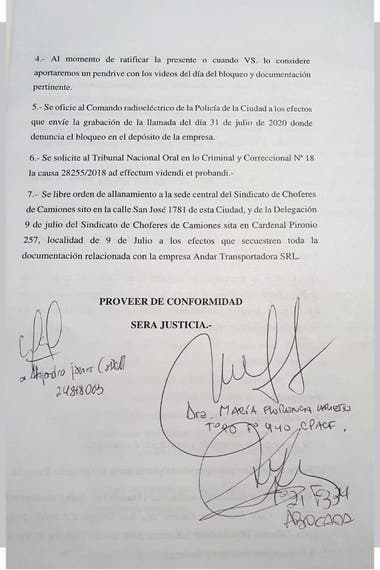 Copia de la denuncia presentada por el empresario