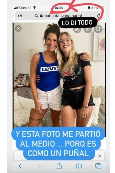 Juariu mostró los likes que intercambian el rugbier y la influencer y dio a conocer el romance del exnovio de Nati Jota