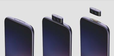 La cámara frontal desmontable que imaginó Vivo para sus smartphones, con un módulo retráctil magnético; por ahora es sólo un prototipo
