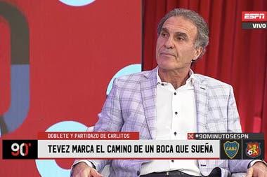 Oscar Ruggeri destacó la figura de Carlos Tevez en el Boca de Miguel Ángel Russo