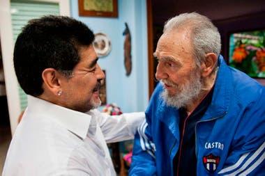 Junto a Fidel Castro, en La Habana en 2013