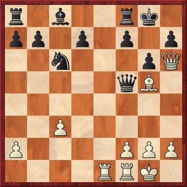 Y aquí Judit jugó 17.Dxf8+!! y las negras abandonaron, encuentre el lector porqué.