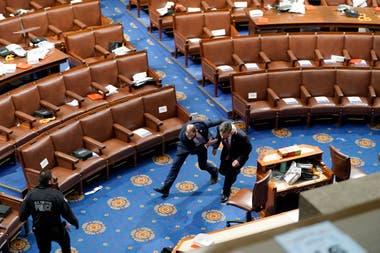 Se vivieron momentos de máxima tensión en el Capitolio