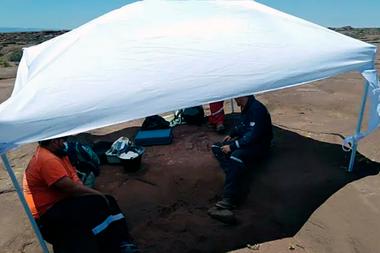 El descubrimiento de los fósiles tuvo lugar mientras se hacían tareas para un estudio de impacto ambiental en el yacimiento Sierra Chata