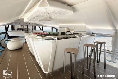El interior del Airlander 10, que llevará 19 pasajeros más la tripulación