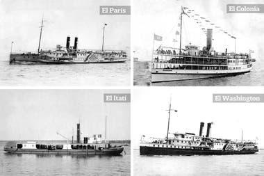 Mihanovich llegó a tener más de 300 embarcaciones. Se caracterizaban por la letra M en blanco sobre las chimeneas negras.