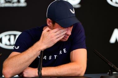 El dolor y la tristeza de Murray al anunciar su retiro del circuito por una lesión en la cadera