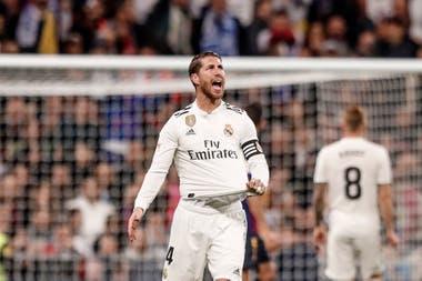 Como es habitual, Sergio Ramos vivió el partido a pura intensidad