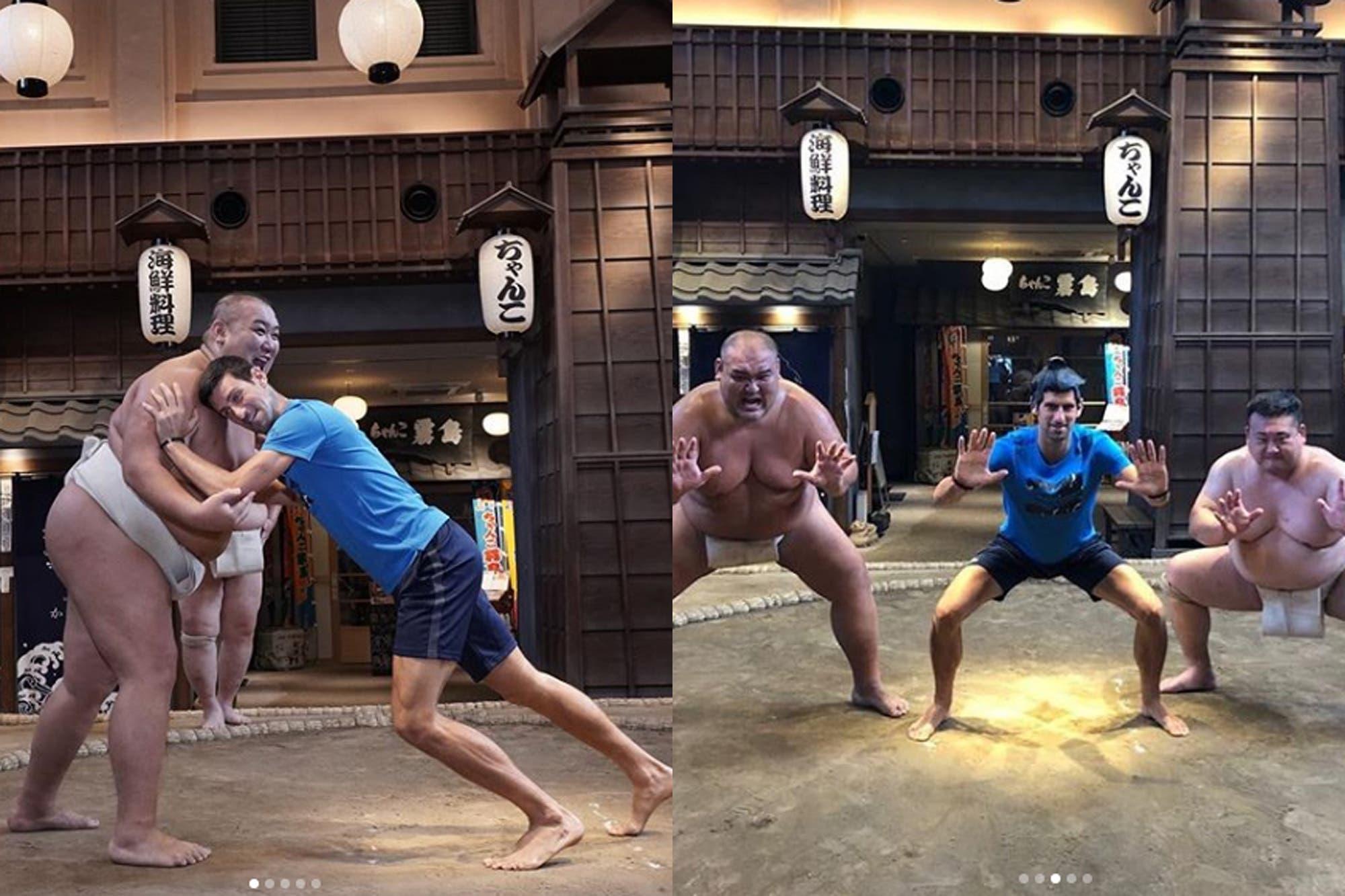 Por qué Djokovic practicó sumo en Japón, donde buscará afirmarse como el Nº 1 del ranking ATP
