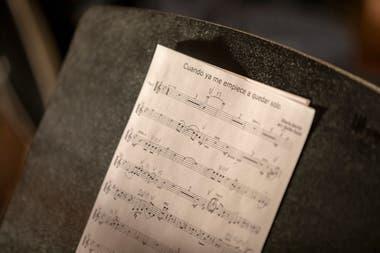 Las partituras de las canciones de Abel Pintos que se escucharán en versión de orquesta en sus próximos shows