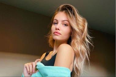 La modelo francesa es hija del futbolista Patrick Blondeau y la diseñadora de moda Veronika Loubry