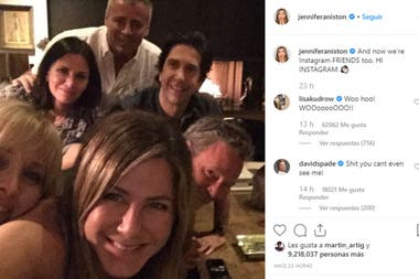"""La foto con la Aniston """"inauguró"""" su cuenta ya suma más de 14 millones de """"me gusta"""""""