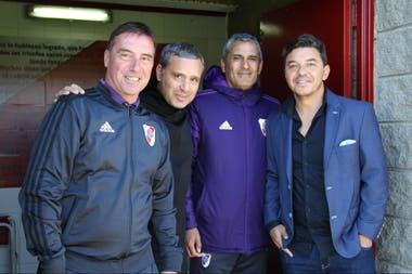 Juan José Borrelli, Gustavo Grossi, Hernán Díaz y Marcelo Gallardo, cuatro pilares del proyecto de las inferiores
