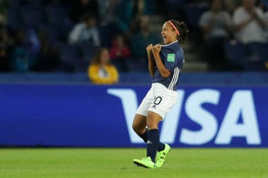 Dalila Ippólito y una noche inolvidable, en el Mundial de Francia.