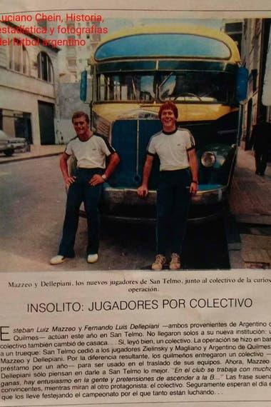 El recorte de El Gráfico donde se cuenta el particular intercambio entre San Telmo y Argentino de Quilmes.