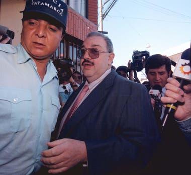 El diputado Ángel Luque, padre del principal acusado de matar a María Soledad Morales, durante el primer juicio, en 1996