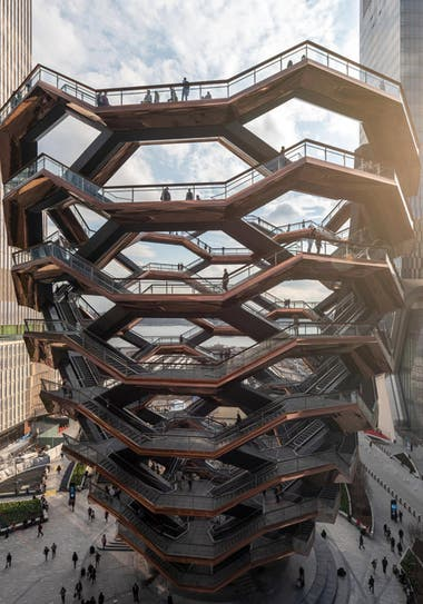 The Vessel, la original y controvertida obra ubicada en Hudson Yards, Manhattan.