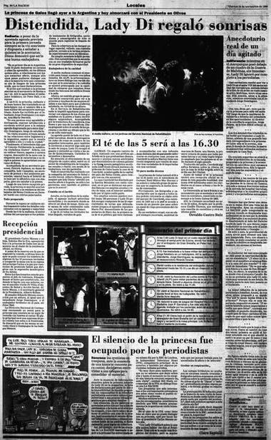 Página del diario LA NACION con la cobertura diaria