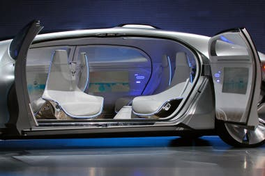 El interior del prototipo autónomo Mercedes-Benz F015 Luxury in Motion