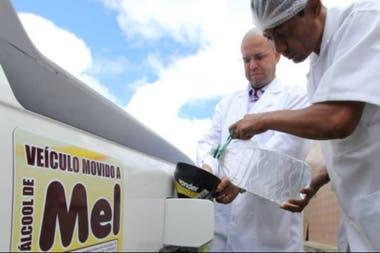 La miel descartada durante el control de calidad se utiliza para hacer el combustible