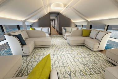 El interior del Airlander 10. En principio, serán paseos de tres días, aunque el vehículo puede mantenerse dos semanas en el aire
