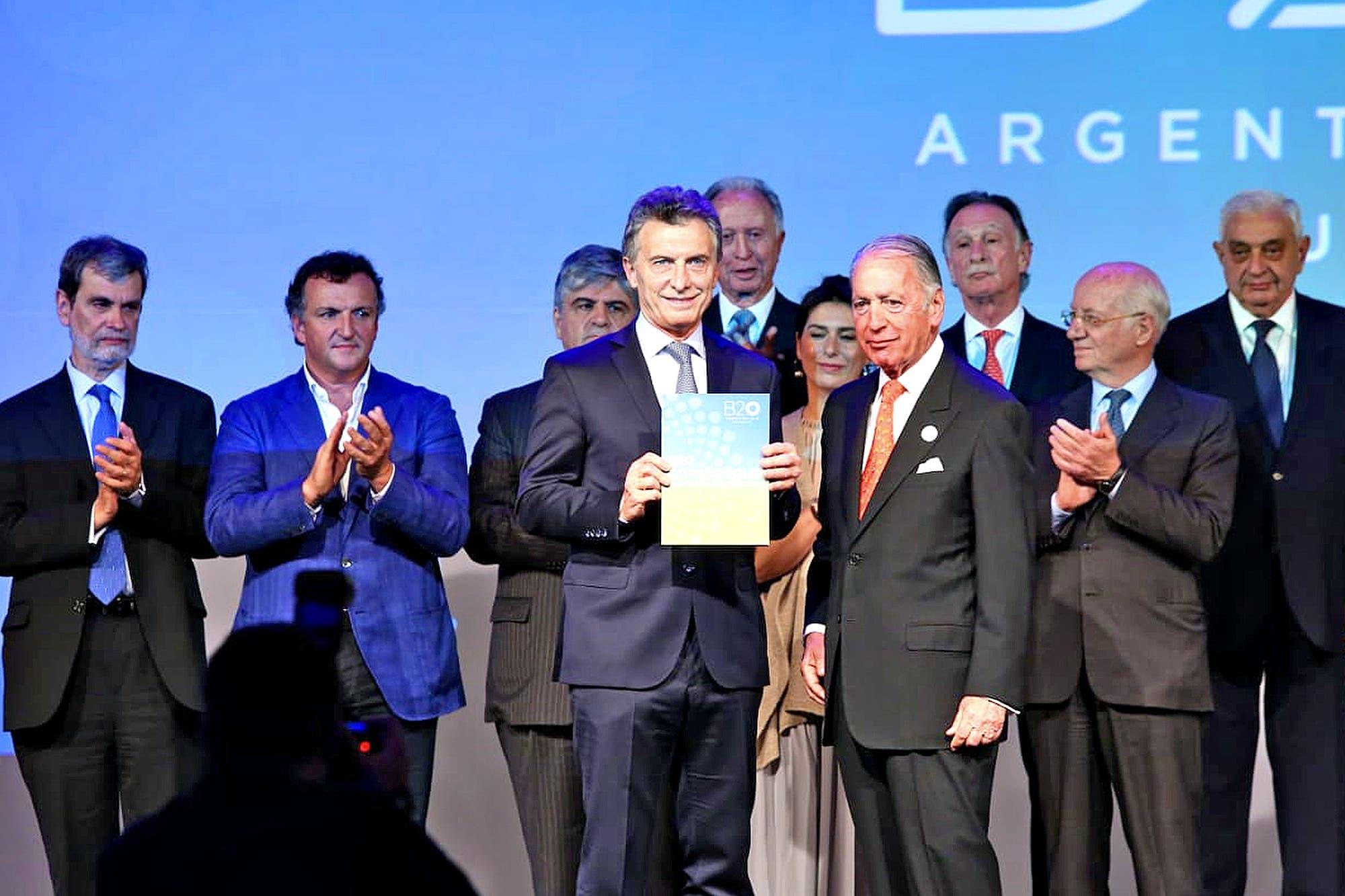 """Mauricio Macri, en el cierre del B20: """"La transparencia es clave para luchar contra la corrupción"""""""