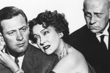 Gloria Swanson, William Holden y Erich von Stroheim, en Sunset Boulevard