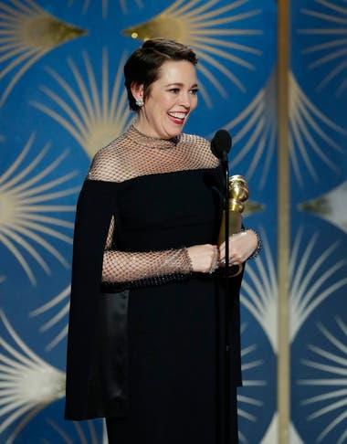 Olivia Colman se impuso como mejor actriz de comedia por su performance en La favorita
