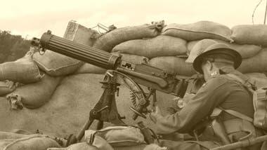Los soldados que sufrían neurosis de guerra a veces perdían la facultad de ver o escuchar pese a que no tenían un problema físico que se lo impidiera.