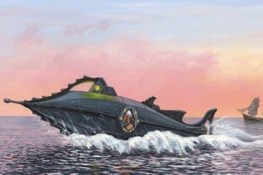 """Según la novela, el """"Nautilus"""" se sumerge y emerge llenando y vaciando tres tanques de lastre"""