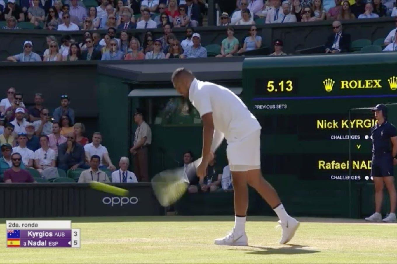 Perlitas de Wimbledon: el saque de abajo de Kyrgios a Nadal y el triunfo de Federer