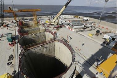 La obra que se est construyendo en Dock Sud para tratar los residuos cloacales de 4 millones de personas