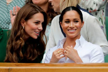 Las duquesas, en el palco real del All England Lawn Tennis y Croquet Club
