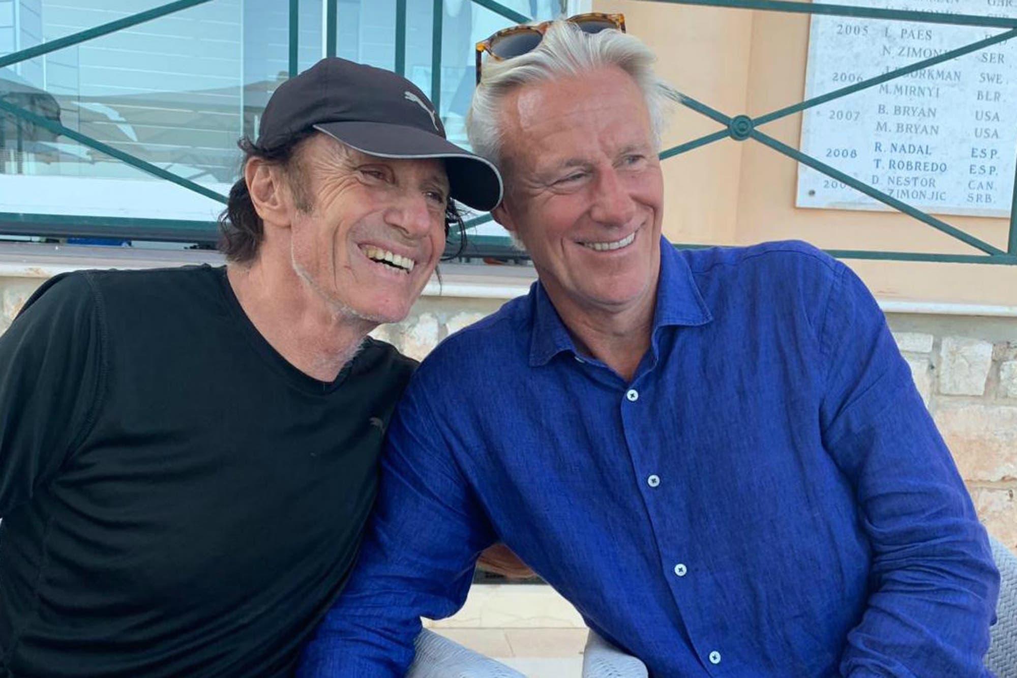 Son leyendas: el reencuentro de Guillermo Vilas y Bjorn Borg en Montecarlo