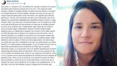El relato de Belén Giménez.