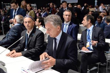El presidente Macri durante la Cumbre de Cambio Climático, en Madrid