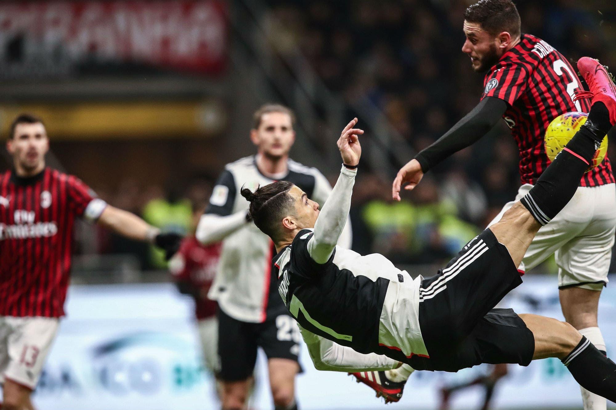 Milan-Juventus: en el gran duelo entre Cristiano Ronaldo y Zlatan Ibrahimovic, el portugués marcó el empate sobre el final